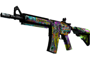 M4A4   In Living Color (Battle-Scarred)