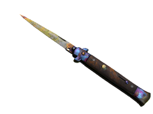 ★ Stiletto Knife | Case Hardened (Well-Worn)